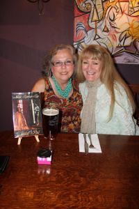 Me with Linn Halton at The Bell Hotel in Tewkesbury