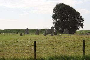 One of the stone circles at Avebury