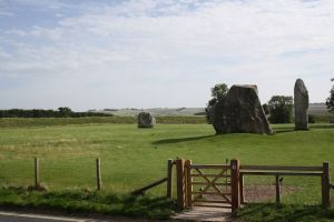 The stones across from The Red Lion in Avebury